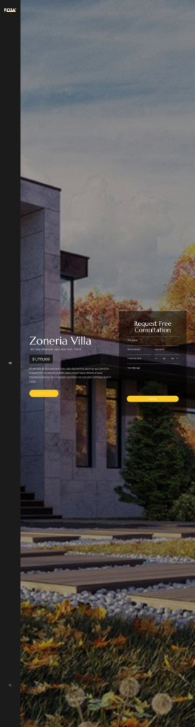 website template for real estate